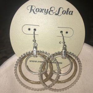 Roxy & Lola Trifecta Earrings Silver/Gold